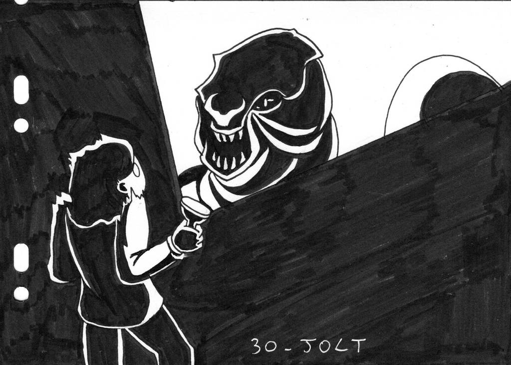 Inktober D30 - Jolt by ArwenAngelis