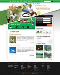 Indoor Tennis Webdesign by cendhika
