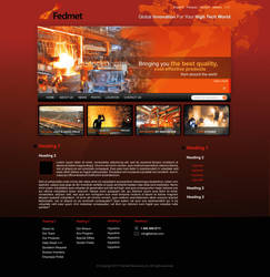 Iron Industry Web Design by cendhika