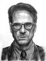 Jeremy Irons graphite portrait by AkshatSH