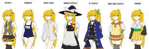 Some Neru outfits by Kousaku-P