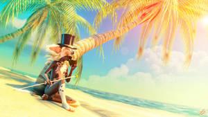 Lord Jinjington Esquire's Hawaiian vacation by tchaikovsky2