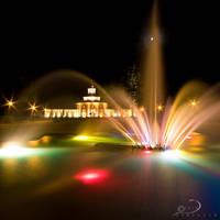 Park Fountain by Linkineos