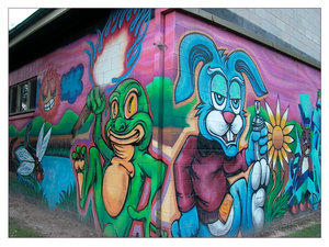 Graffiti Wabbit- sandcastles01 by adelaidedeviants
