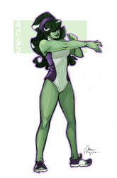 commission - she-hulk by missveryvery