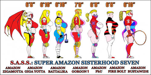 Super Amazon Sisterhood Seven by WaffleJunkie
