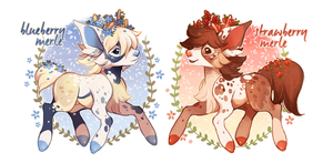 (CLOSED) March Merles by spottedfawns