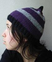 purple stripes gnome by nyankorita