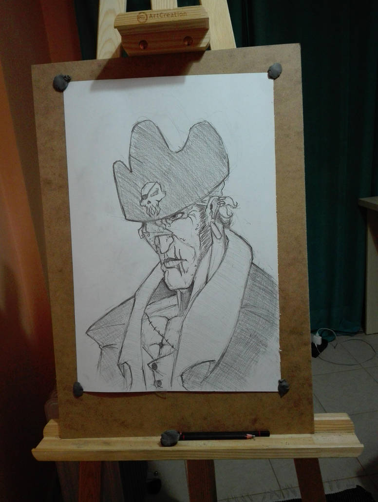 Evil Pirate Sketch by thelost544