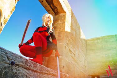 Lady Deadpool III by Black Cat by AndyWana