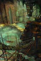 Underground temple by coMceptArt971