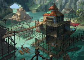 Stilt village (update) by coMceptArt971