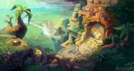 Desecrated temple by coMceptArt971