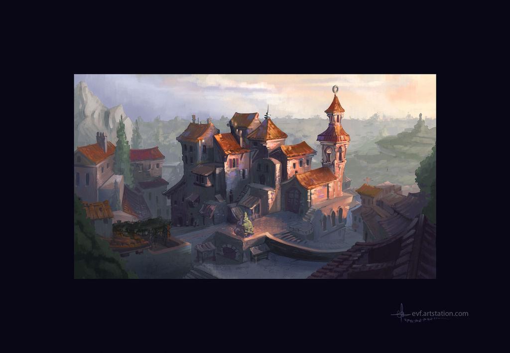 Ochre village by coMceptArt971
