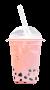 Strawberry Boba Tea by ThisTeaIsTooSweet
