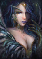 Feather girl by XENAS-art