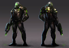 Sci-Fi Character Concept by BillCreative