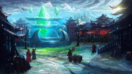 Fantasy Village by BillCreative