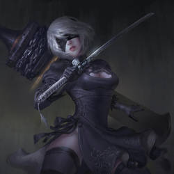 2B - NieR:Automata by BillCreative