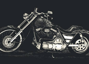Tim's Harley by PeterThorson