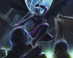 Batgirl for Aidenke by MaHenBu