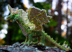 Green bead dragon by Thymetenor