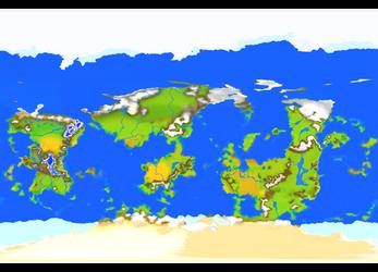 Crimson Rue: World Map by noeinan
