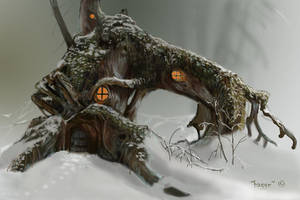 a small forest home by Hagge