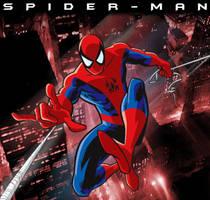 Spider-Man over Manhattan by trisaber