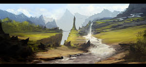 Sketchy landscape by AndreeWallin