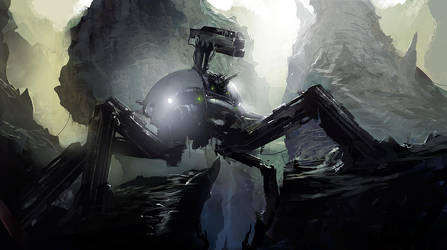 Spider mech by AndreeWallin