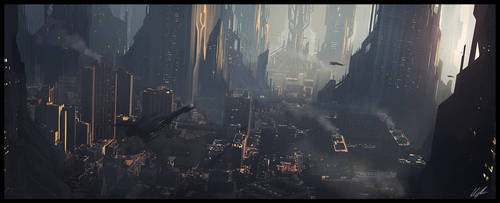 Scifi city speed 2 by AndreeWallin