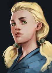 Girl Sketch by Spellsword95