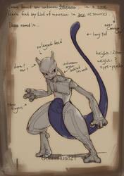Mewtwo Skeleton by Cornelius821