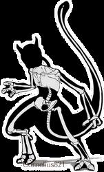 Mewtwo Skeleton Only by Cornelius821