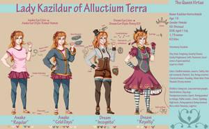 HKoF: Lady Kazildur Reference by Goth-Kath