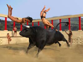 Taurus: Cretan Bull Dancing by dylazuna