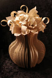 Large Flower Vase Book Sculpture by wetcanvas