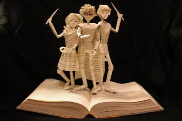 Harry Potter Book Sculpture by wetcanvas