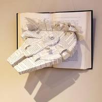 Millenium Falcon Hanging Book Sculpture by wetcanvas