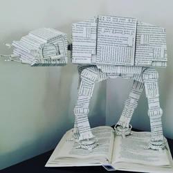 AT-AT Book Sculpture 2 by wetcanvas