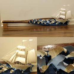 Ship on Oar by wetcanvas