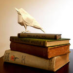 Songbird Book Sculpture by wetcanvas