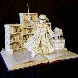 Harry Potter Book Sculpture by wetcanvas