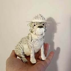 USMC Bulldog Book Sculpture by wetcanvas