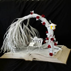 Love Birds Book Sculpture by wetcanvas