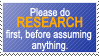 Do Research First by World-Hero21