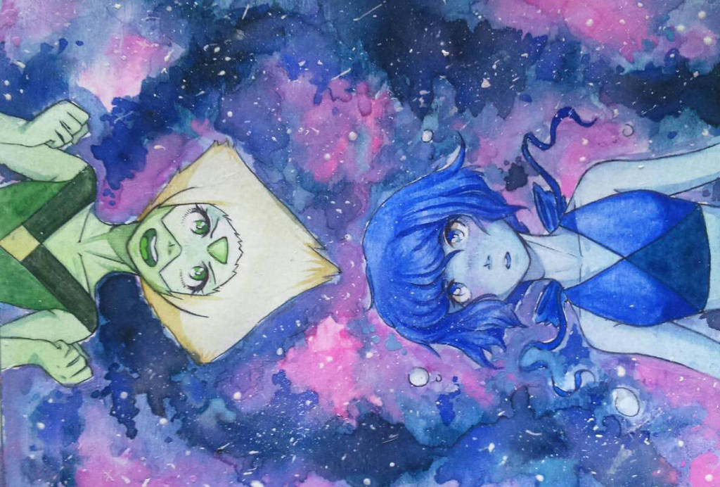Finished work (/^.^)/ I'm a little obsessed with the space :3 Hope you like it~ 🌸