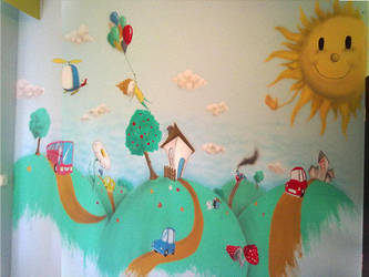 children room by AirbrushDecoration