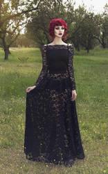 Black lace skirt by mysticthread